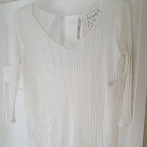 Free people ivory tunic with cut out back